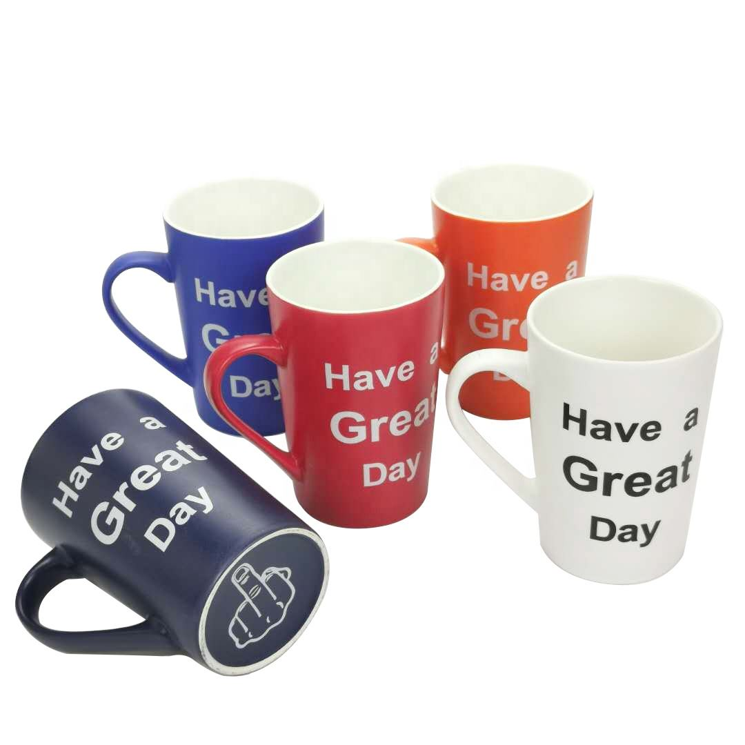 BSCI Promotional Logo Printed Amazon Ceramic Coffee Mugs