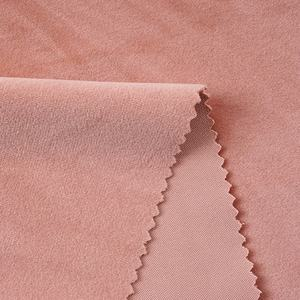 Professional in stock solid color 100% polyester royal silk velvet fabric for curtains and draperys