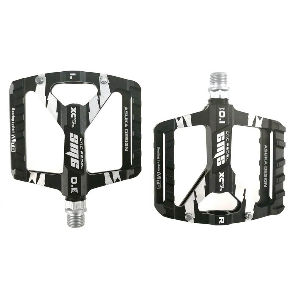 UPANBIKE MTB Road Bike Bicycle 9/16'' Ultralight Pedals DU + Sealed Bearing CNC Aluminum Widen Platform Bike Pedals