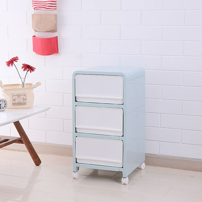 Wholesale Household plastic drawer for clothes cabinet 3 layer plastic storage cabinets drawers organizer boxes with wheels