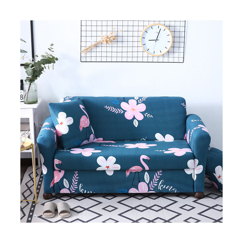 Home Stretch Flamingo Flowers Pattern Sofa Cover, Manufacturers Polyester For 3 Seater Sofa Covers/