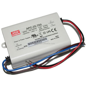 Power Supply Meanwell APC-25-700 (25W 700mA) Single Output 25W Konstan Driver LED Saat Ini 700mA