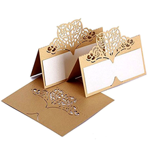 Wholesale Navy Blue Laser Cu Wedding Invites Embossed Bridal Shower Invitations Elegant Wedding Invitations Cards