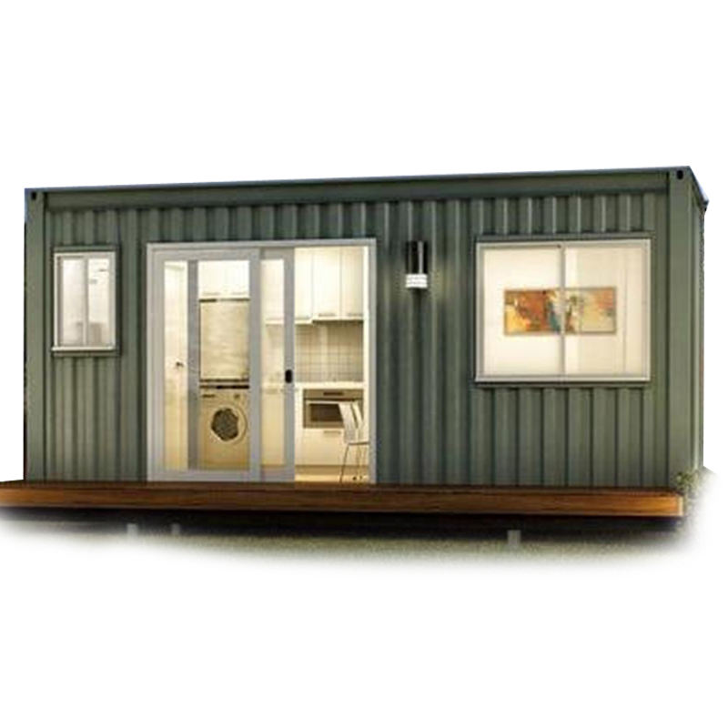Mobilhome draagbare behuizing unit 2 slaapkamer woonkamer 20ft container huis