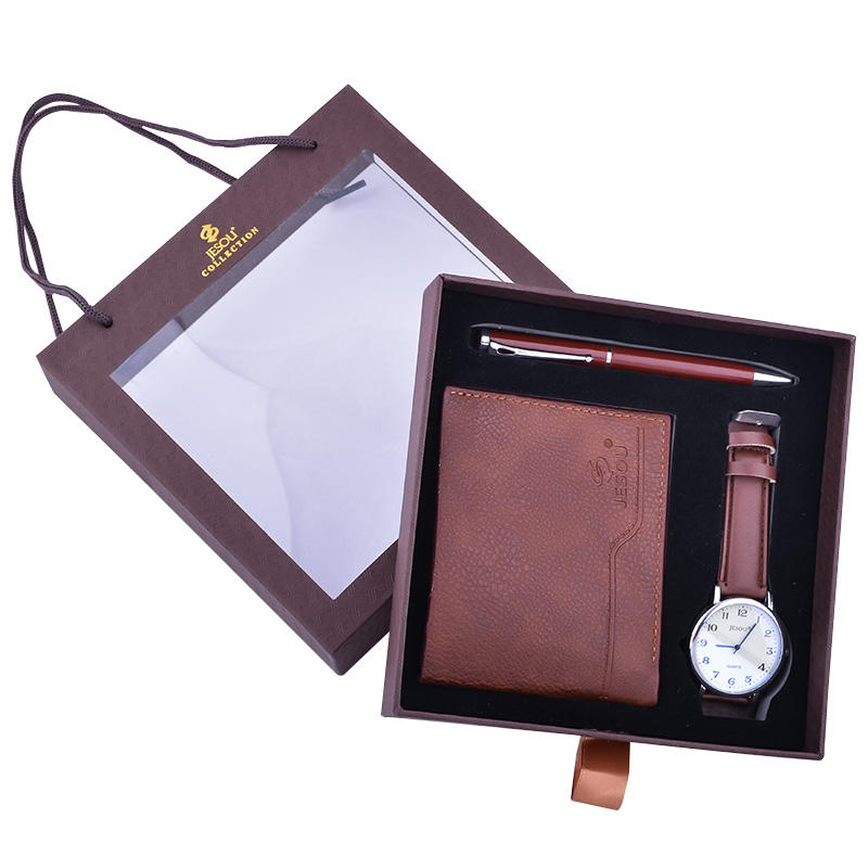 2020 The New Best-Selling Exquisite Men'S Watch Wallet Pen Three-Piece Gift Box Set