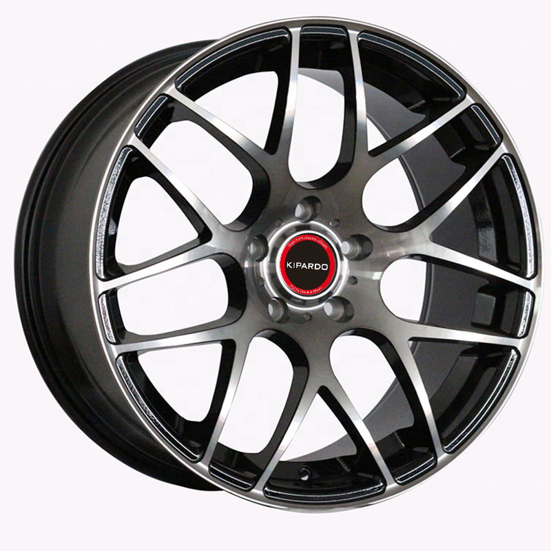 Chinese high quality 18 19 inch custom T6061-T6 black machine face aftermarket alloy wheels