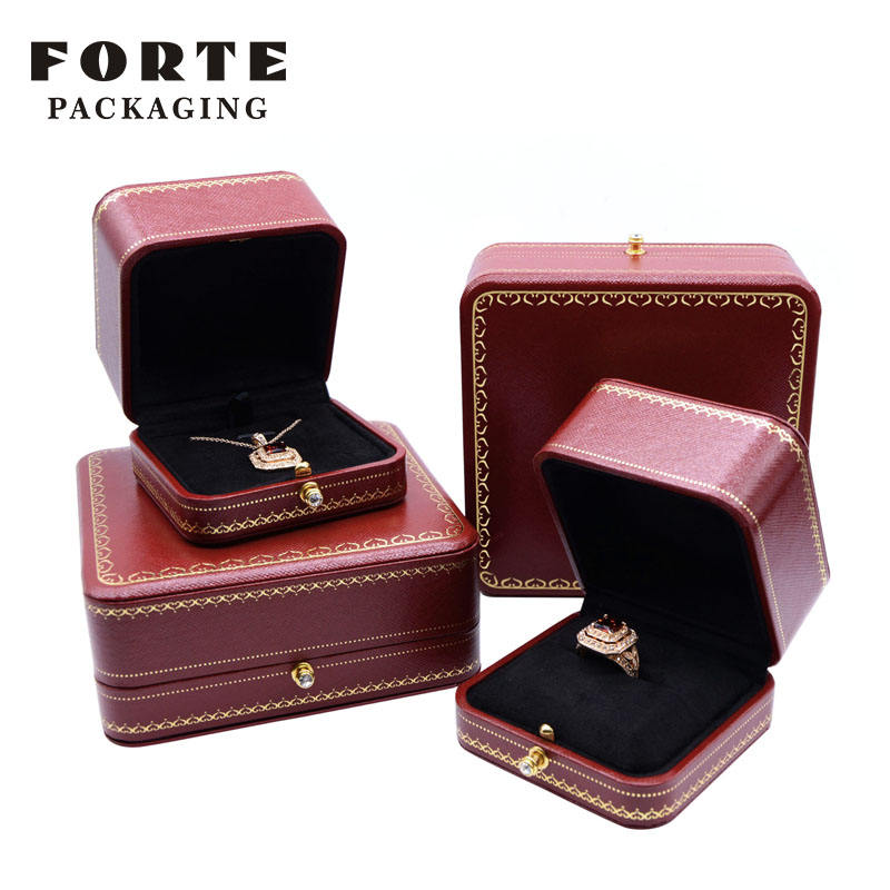 FORTE vintage jewellery packaging boxes custom logo jewelry pendant box