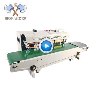 FR-900 Automatic horizontal plastic film bags heat sealing machine continuous band sealer machine