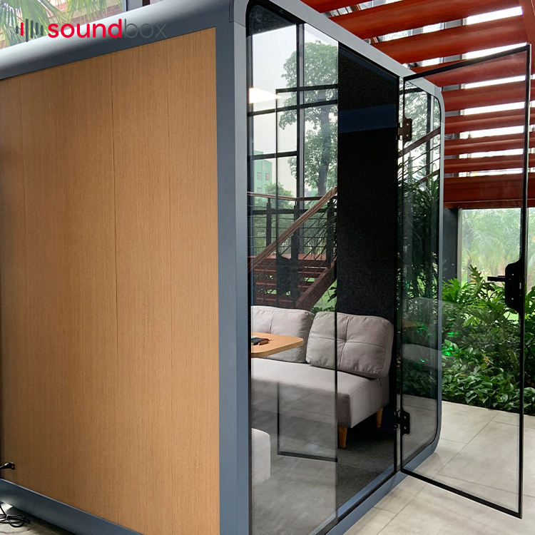 Movable Easy Assemble Office Booth Soundproof Pod For Meeting