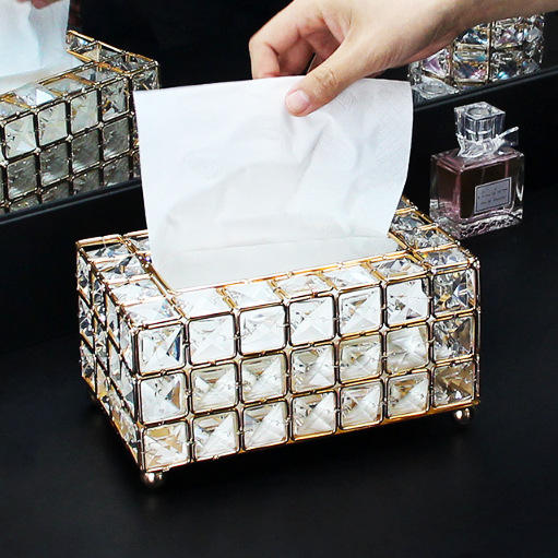 Wholesale Custom Size High Quality Premium Clear Acrylic Tissue Box with elegant style