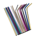 Straws Drinking Wholesale Environmentally Friendly Reusable Rainbow 304 Stainless Steel Straws For Drinking