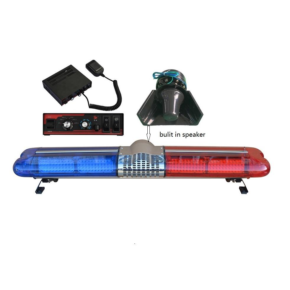 Emergency Led flash warning strobe lightbar with 100w siren speaker