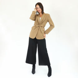 New style thin air-conditioned office British style ladies small suit single button cardigan loose jacket