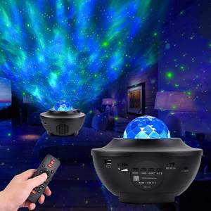 LED Projection Lamp Star Galaxy Projector Night Light, 2 in 1 Starry Lamp & Ocean Wave Laser Projector with Remote Control