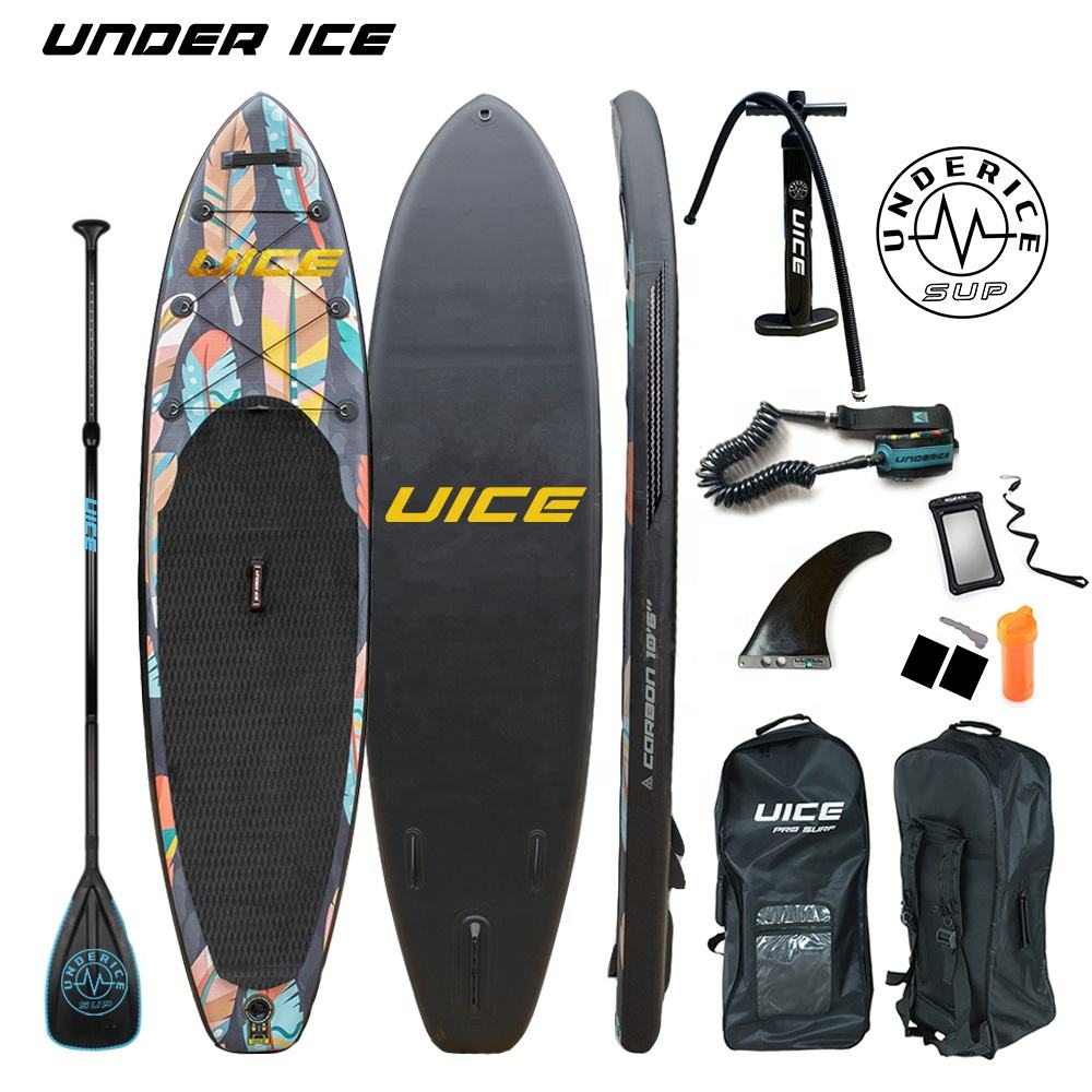 10'6''x32''x6'' Premium Quality UICE Double Layer Inflatable Stand Up Paddle Board iSUP Air board