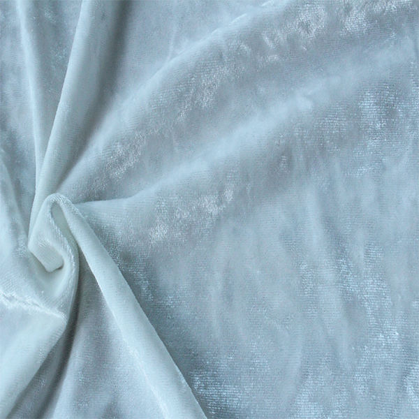 Crushed Velvet White Polyester Fabric Manufacturer For Sublimation Printing