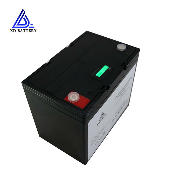 60V LCD bluetooth rechargeable d'ion de lithium fer phosphate 12v 60ah 70ah 100ah lifepo4 batterie