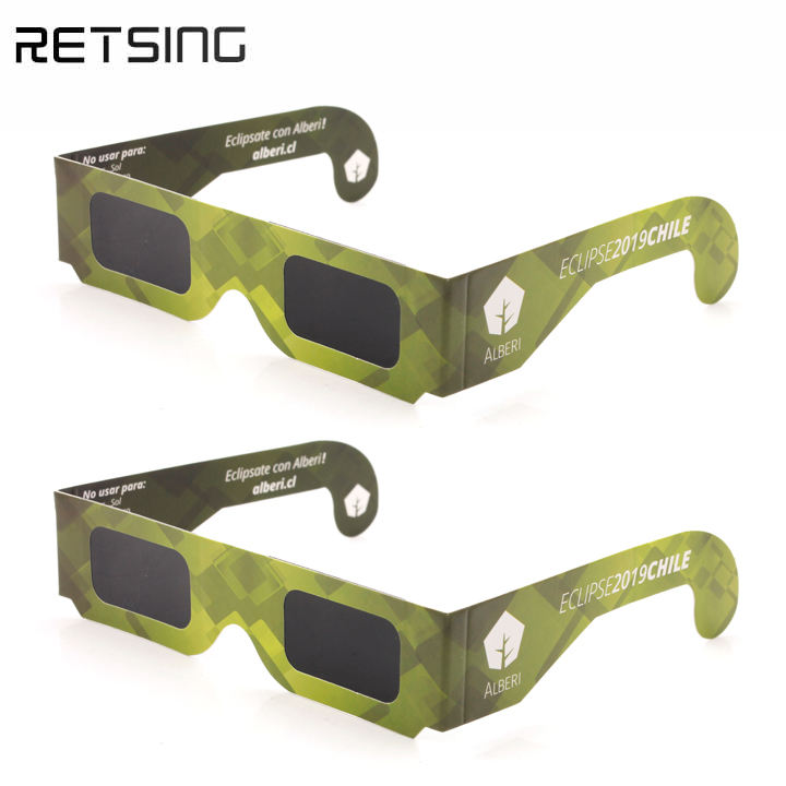 Disposable Paper Solar Eclipse Glasses ISO For Viewing Chile Eclipse