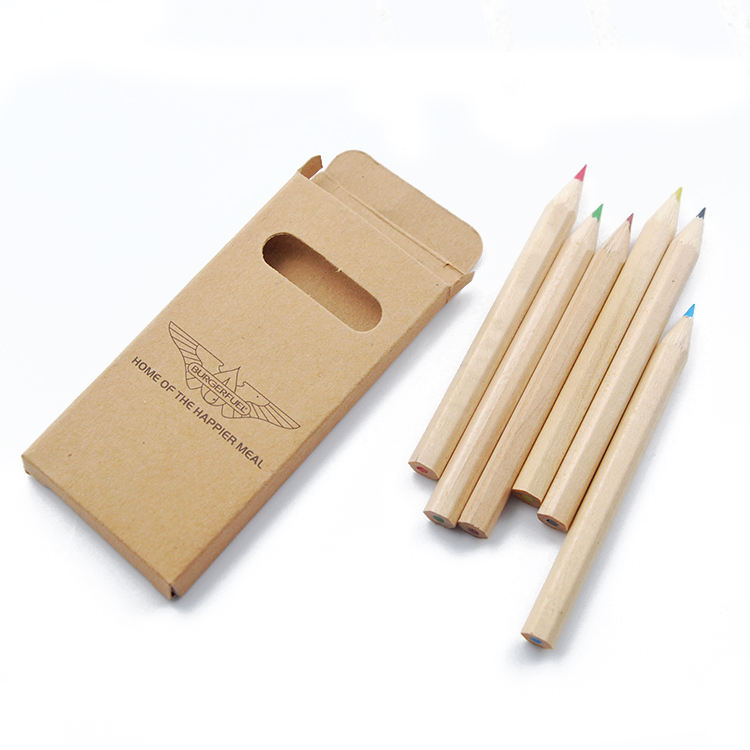 Mini Natural Wood Colour Pencil Eco Friendly School Kids Yiwu Stationery Set