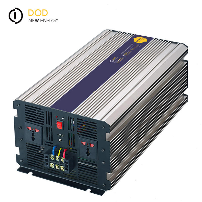 Soft Start Fase Tunggal 3000W 4000W 5000W 3kw 4kw Benar Sine Wave Power <span class=keywords><strong>Inverter</strong></span> 12V <span class=keywords><strong>Dc</strong></span> untuk 120V <span class=keywords><strong>Ac</strong></span> 220Volt dengan Charger Up