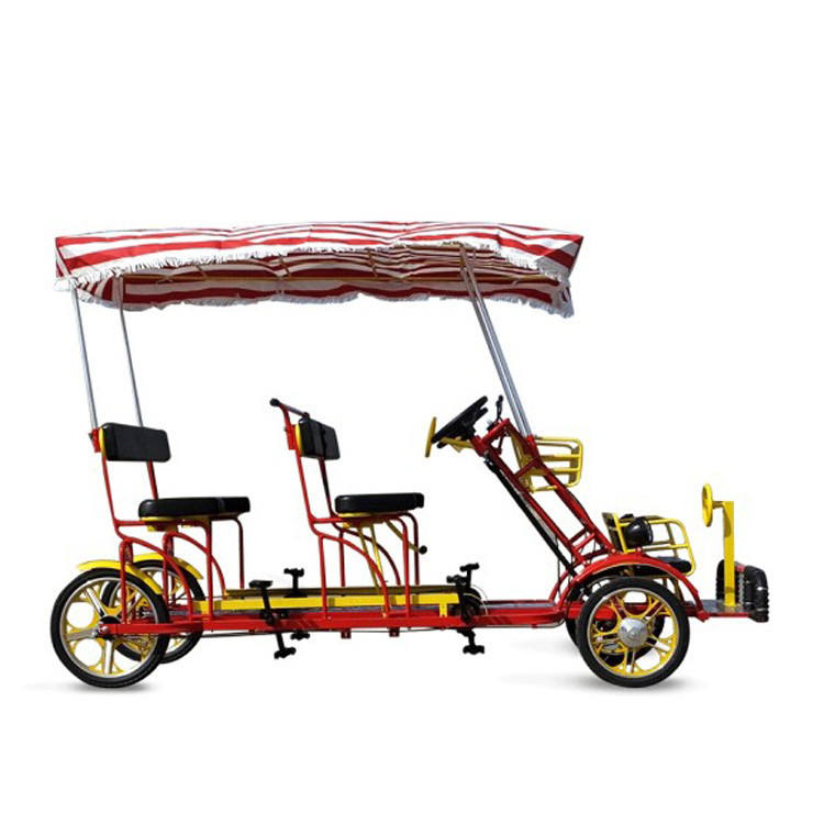 22 inch Double seats surrey bikes for 4 person/2 person tandem bike/electric surrey bike