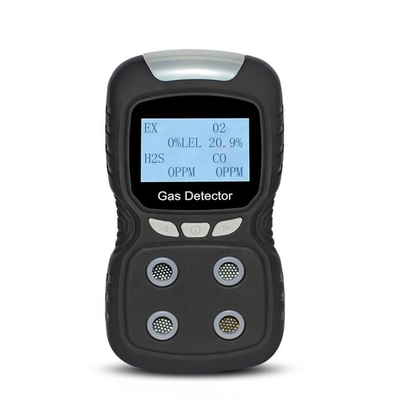 Manufacture CO H2S O2 LEL(Ex) 4 Gases detector optional gas type portable multi gas detector and analyzer