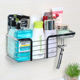 New product no nailling no drill adhesive metal bathroom shelf shower caddy shelf
