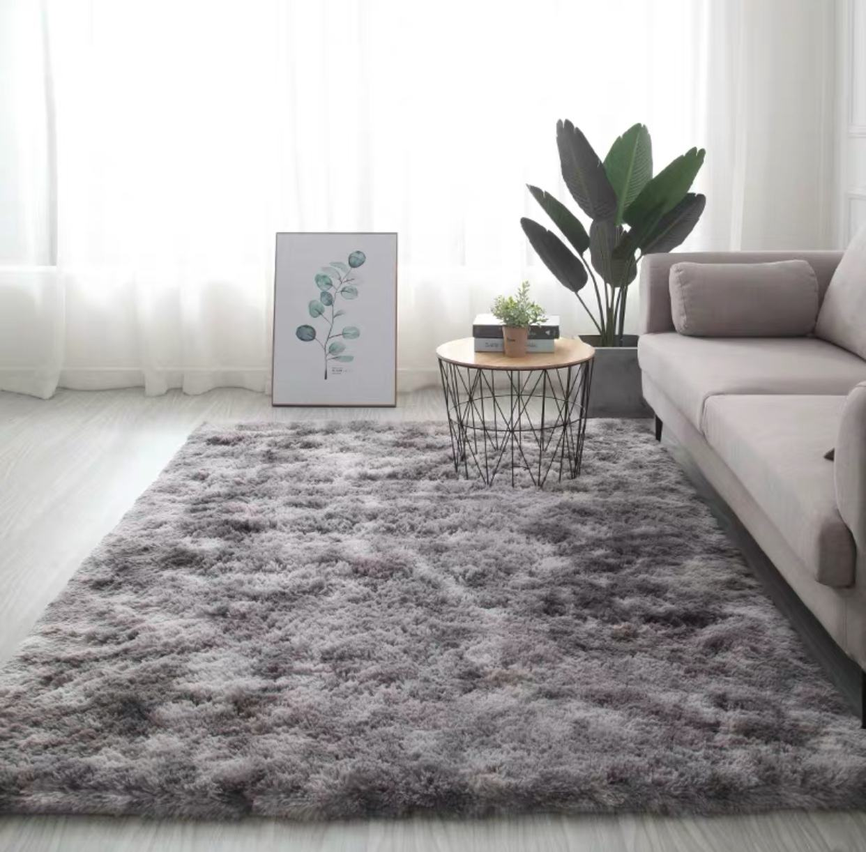 Home decoration 100% polyester comfortable long pile living room super soft carpet
