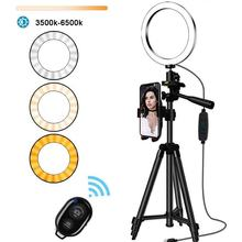 10 Inch LED Lamp For Makeup Photographic Lighting Selfie Ring Light With Tripod Stand