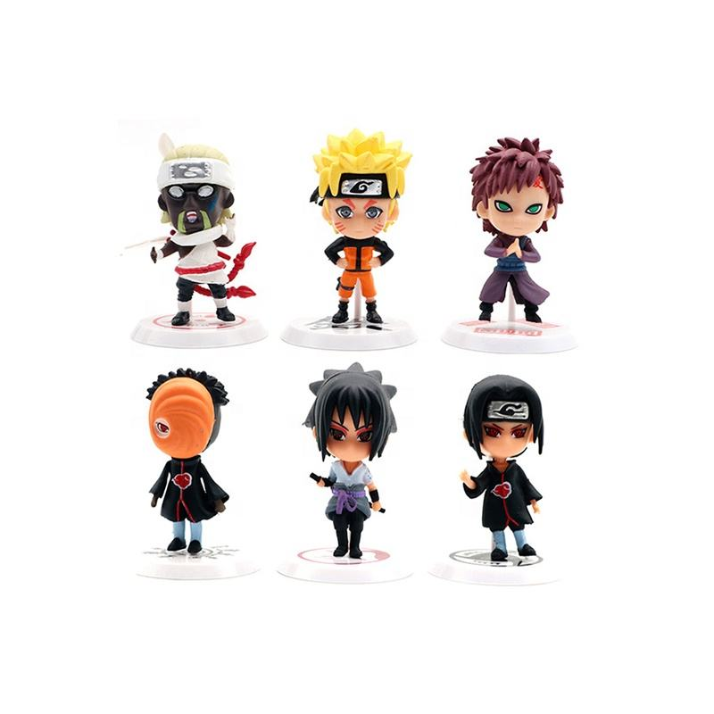 Children Figure Toy Naruto Kakashi Sasuke Garage Kits Car Table Decor Ornament Anime Naruto Action Figure Toy
