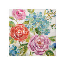 Colorful Blossom Floral Artwork Picture Handmade Painting Canvas Wall Art for Living Room