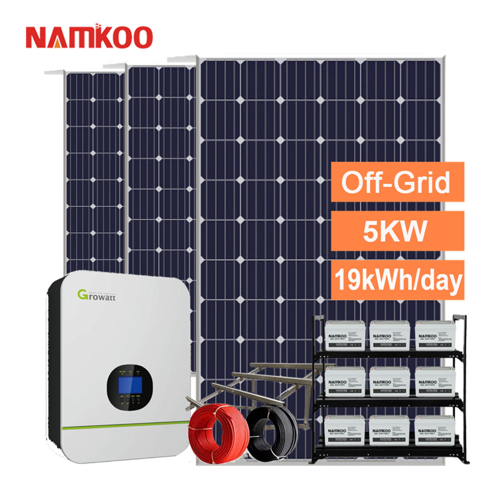 5kW Home Use Solar System 5000w Off Grid Inverter Solar Power System Home
