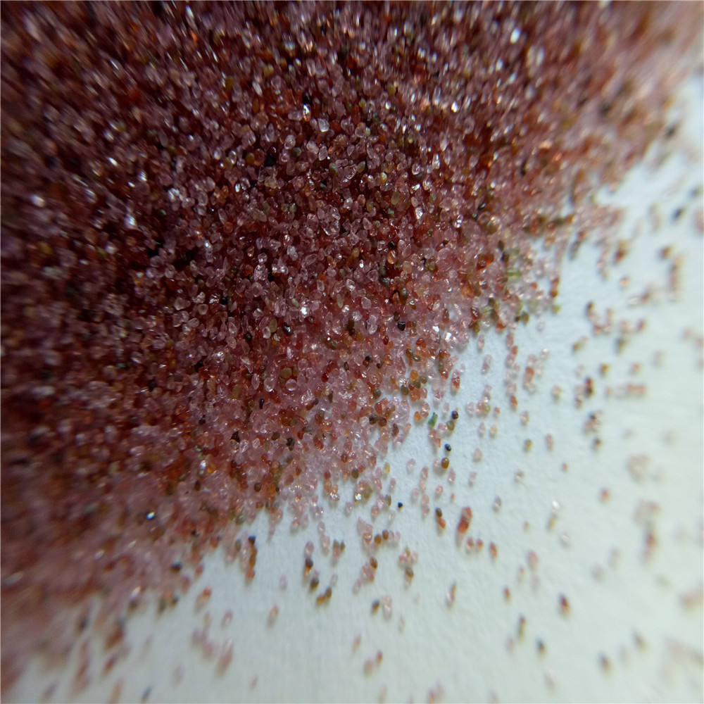 Pink Sea Garnet sand 30-60 mesh for wet sandblasting