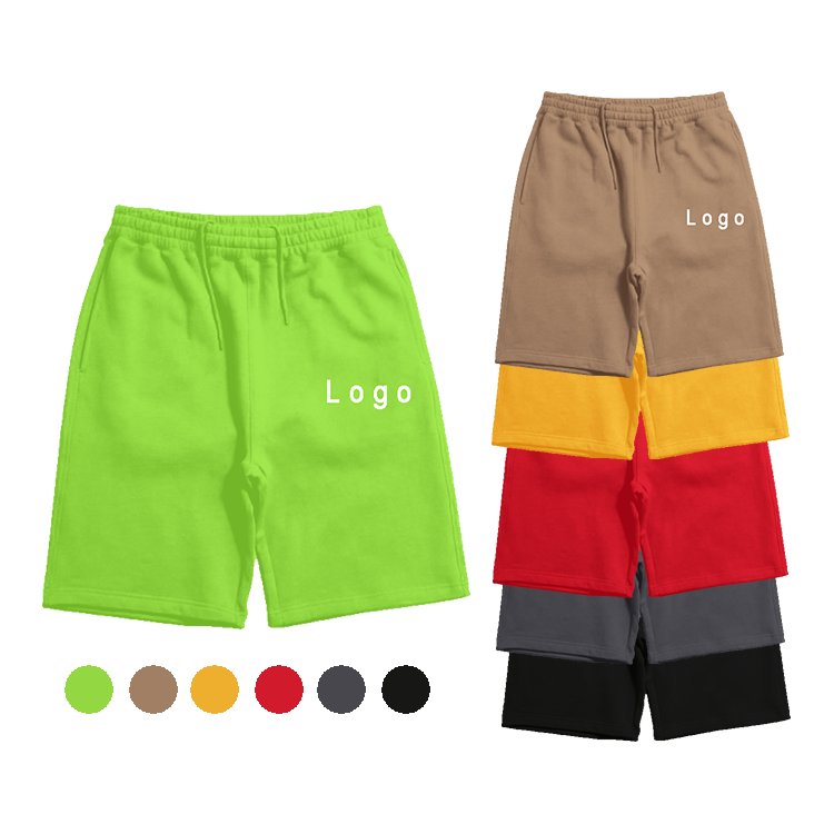 Custom Sports Workout Cotton Gym Athletic Plain Shorts Pants Casual Drawstring Men Shorts