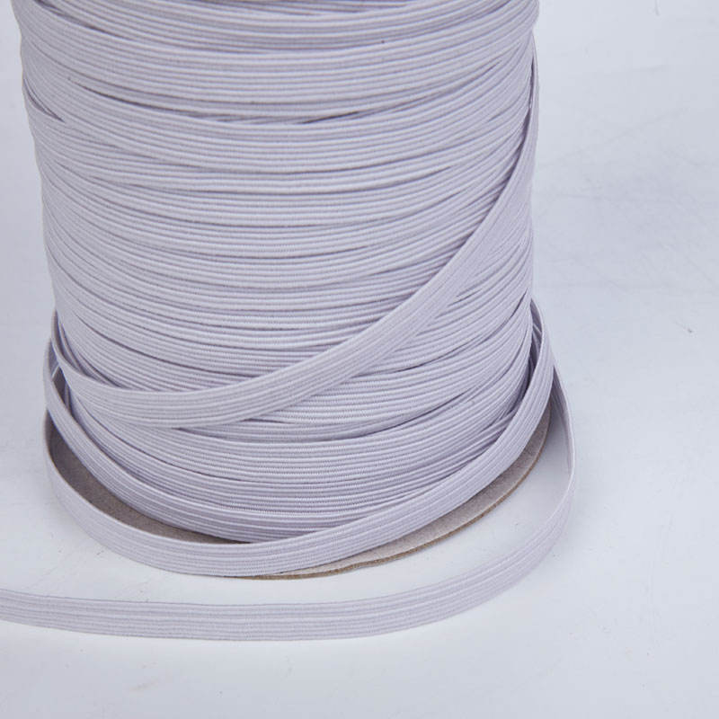 Coated [ White Elastic ] 3mm Elastic White Custom Size 1/8