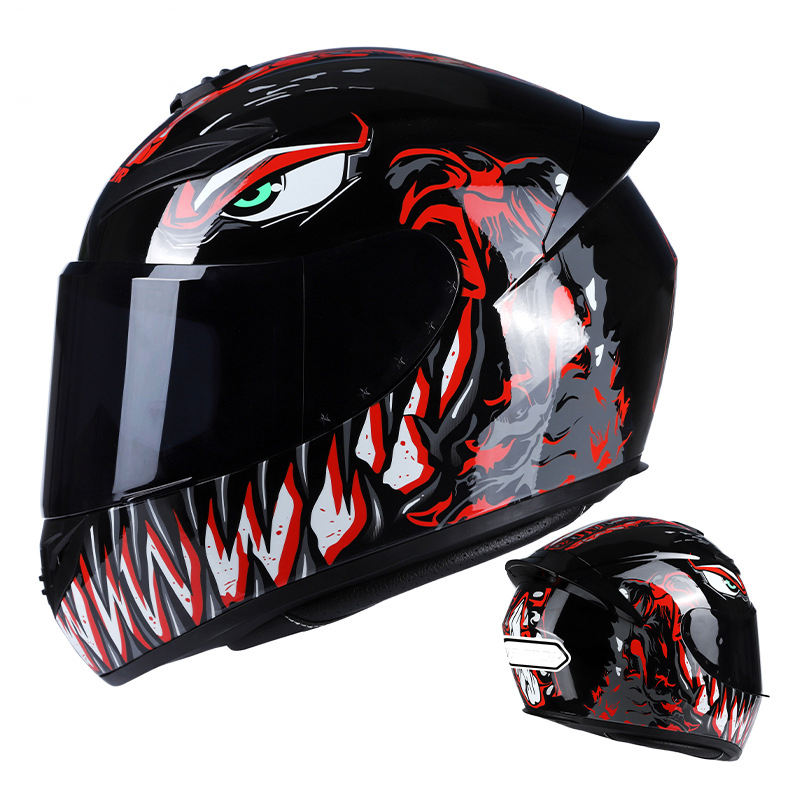 Beast graphics ABS helmet motorcycle Light full face helmet racing motorcycle helmet men and women four seasons