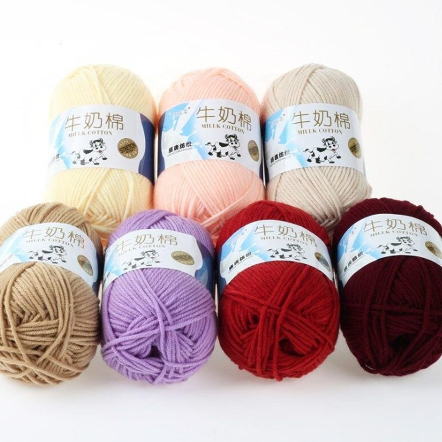 wholesale cheap price milk cotton yarn 50g for knitting crochet