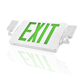 2019 NEW Slim LED Combo EMERGENCY EXIT SIGN Green letter with LED Heads