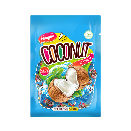 Brazil Korean Japanese Import Halal Clearly Fruit Hard sweet Coconut Candy