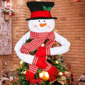 Ourwarm Smile Snowman Christmas Tree Top Star Christmas Decorations Mall Home Christmas Supplies For Xmas Party