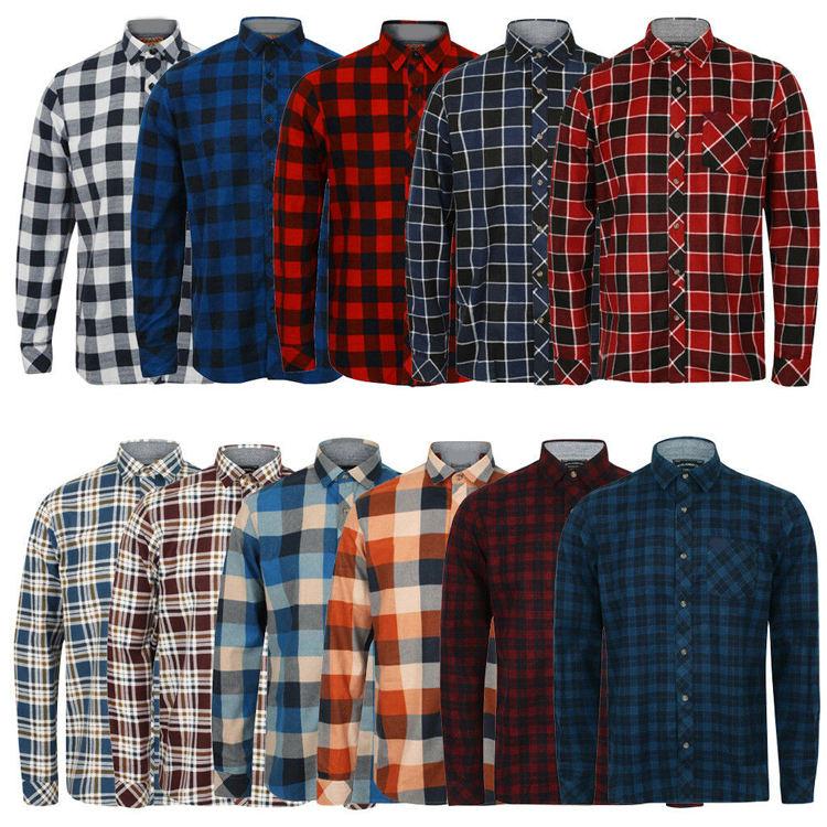 Camisas Mens Dress Shirts Long Sleeves Casual Check Cotton Shirts for Men