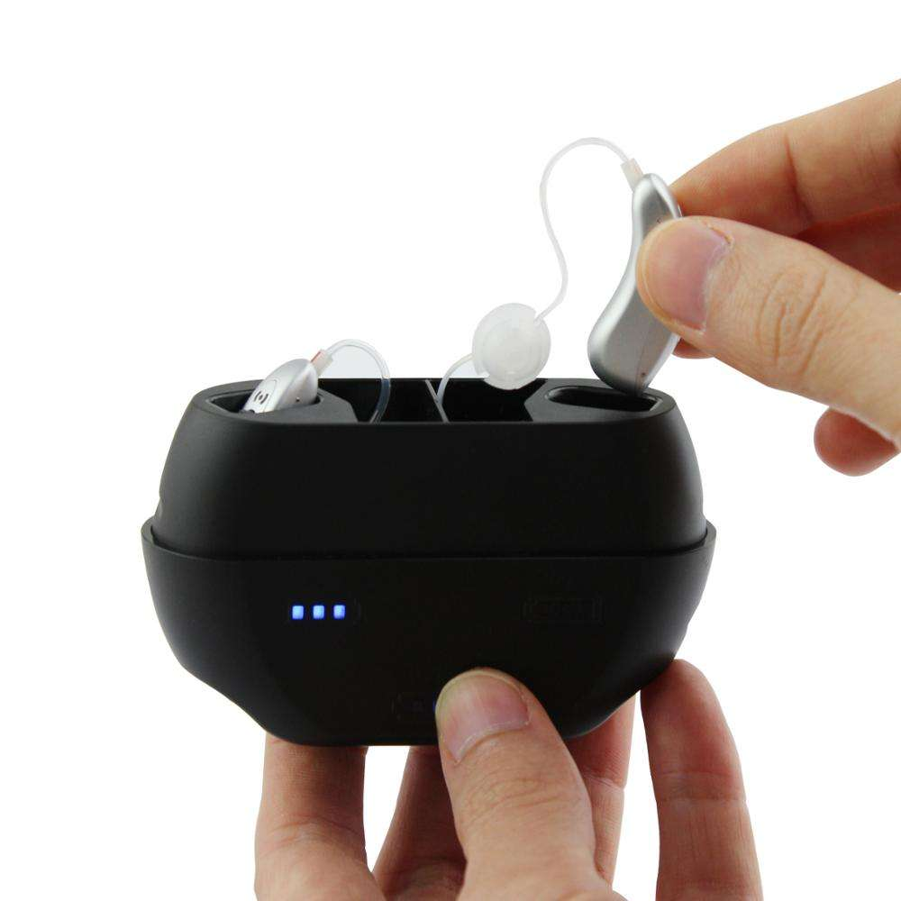 Wireless Hearing Aid Wireless Charging Hearing Aid Mini Sound Amplifier With Potable Charging Case For The Deaf