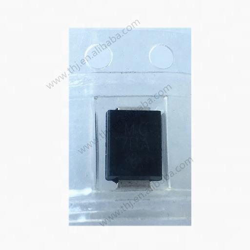 SMBJ6.0CA ESD Suppressors//TVS Diodes 6volts 800uA 58.3 Amps Bi-Dir Pack of 100