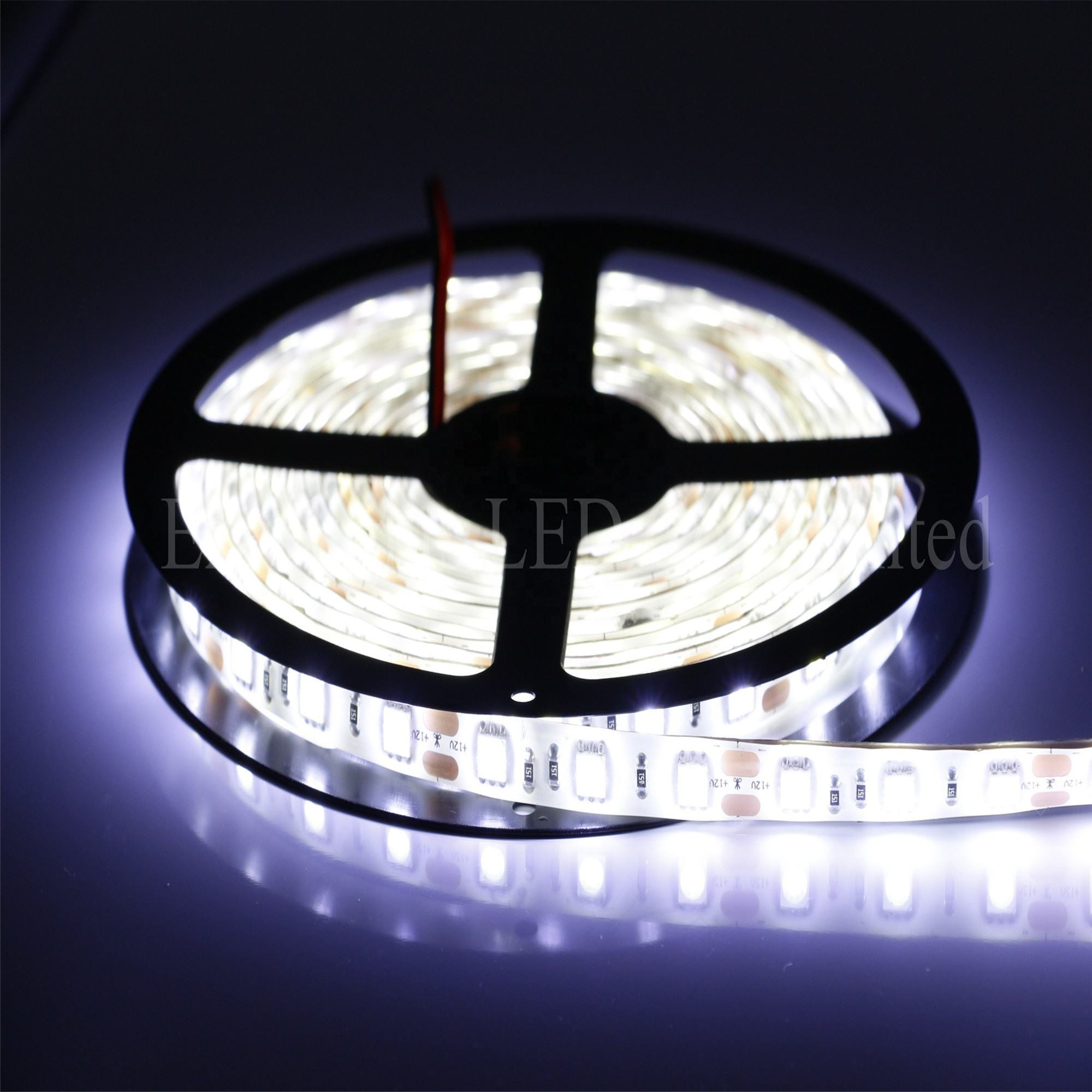 Outdoor Silicon Tube Waterproof Flexible 5050 SMD Led Strip CE ROHS Approval 60pcs SMD DC 12V 5050 LED Strip