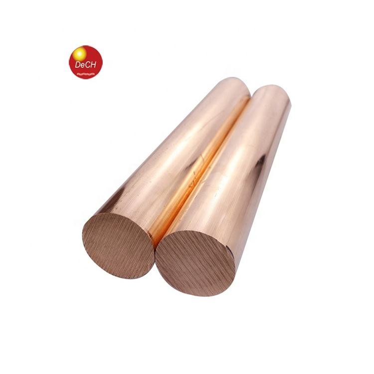 Pure Red Round C1011 C1020 C1100 T2 ETP Copper Bar / Rod 2mm 3mm 4mm 5mm 6mm 8mm