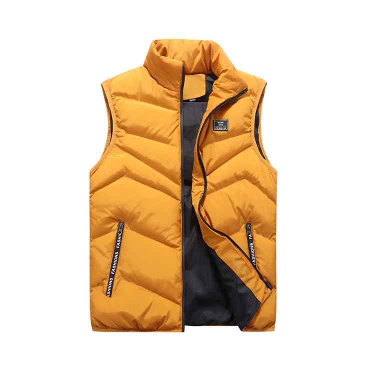 Mens Jacket Sleeveless Vest Winter Fashion Casual Coats Male Cotton-Padded Men's Vest Men Thicken Waistcoats 4XL