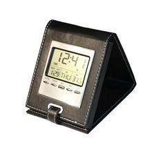 Multifunction Travel Alarm Clock With Leather Case Tuning Chinese Electronic Clock RTS LG3018B