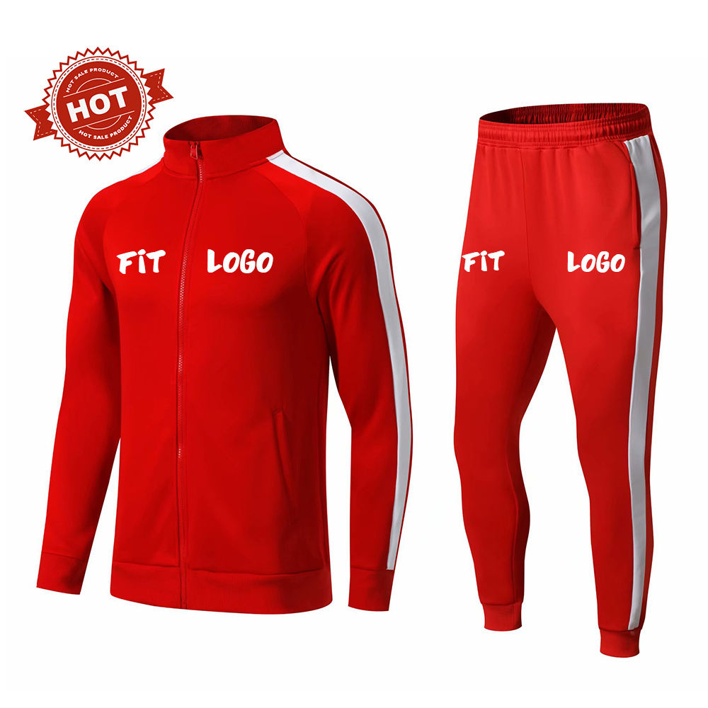 OEM 2021 brand new survetement Polyester Custom Embroidery logo Jogging Tracksuits for men kids