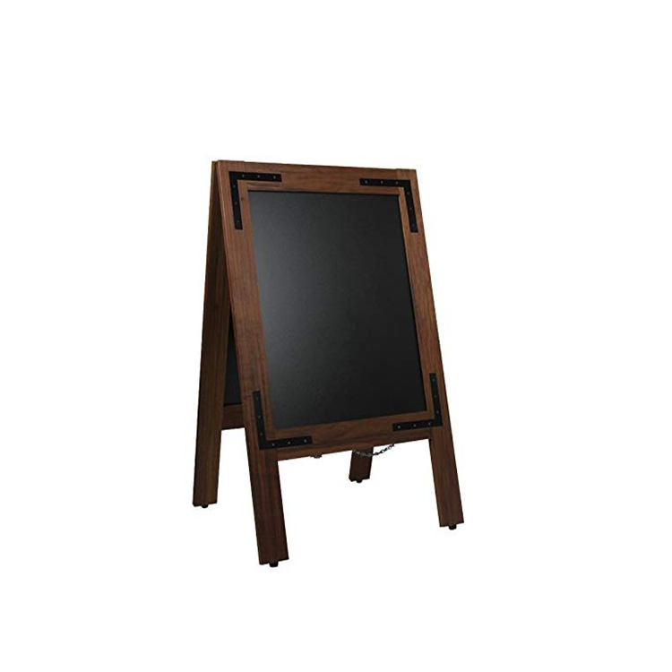 Custom Antique Wooden Foldable With Metal Advertising Display Blackboard Frame