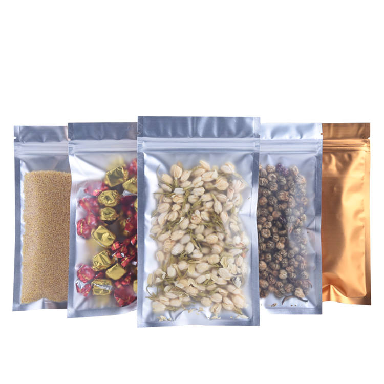 High quality low price edge uneven plane design easy tear food plastic bags